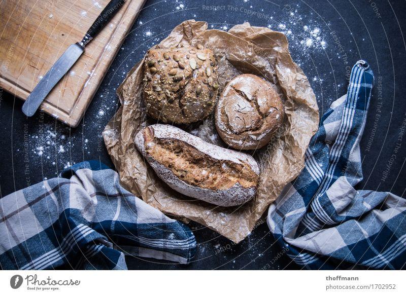 Brotzeit Gesundheit Holz Ernährung Frühstück Korn Mahlzeit Abendessen Messer Schneidebrett Brötchen Kochsalz Mehl Bäcker Leinen Bäckerei Baguette