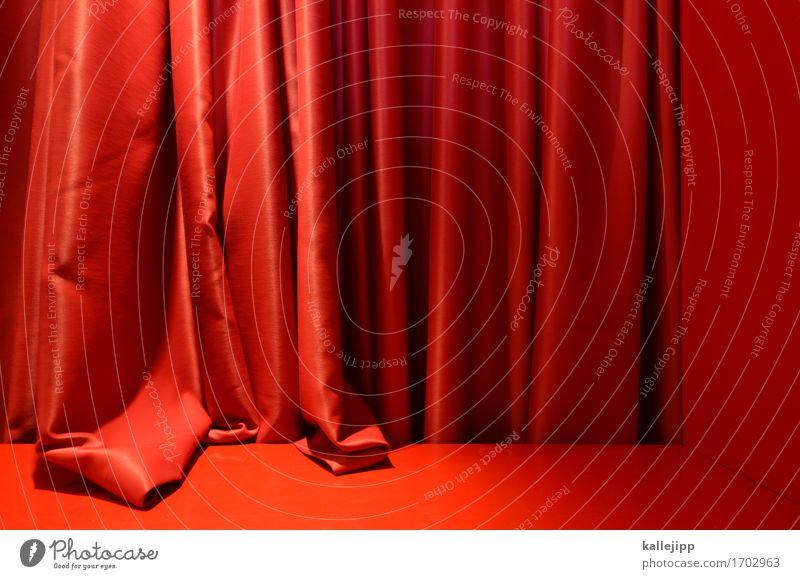 und jetzt? Kunst Theater Bühne Puppentheater Kultur Veranstaltung Show rot Vorhang Hautfalten Starruhm Bekanntheit Image Schauspieler Farbfoto Innenaufnahme