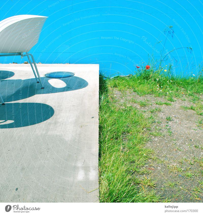 chairman blau Ferien & Urlaub & Reisen Sommer ruhig Erholung Gras Stil Zufriedenheit elegant Design Tourismus ästhetisch Lifestyle Stuhl Wellness Bar