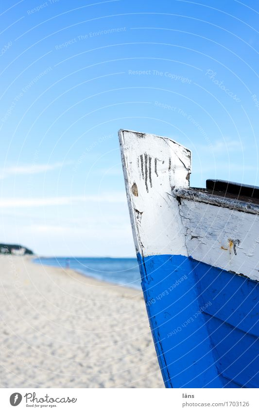 Das Meer Himmel Ferien & Urlaub & Reisen blau Sommer Wasser Sonne Landschaft Strand Küste Holz Tourismus Luft Ausflug Beginn Insel