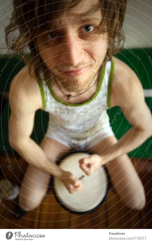 dudelsack Mensch Mann Freude Erwachsene Glück lustig Musik Zufriedenheit Trommel Freizeit & Hobby maskulin Fröhlichkeit authentisch Lifestyle Kreativität