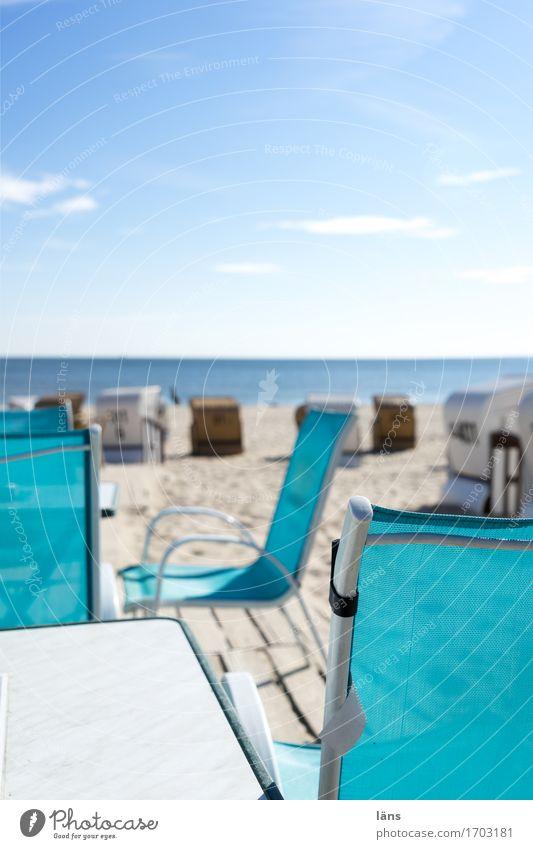 Saisonbetrieb Ferien & Urlaub & Reisen Tourismus Ausflug Sommer Sommerurlaub Sonne Meer Urelemente Sand Luft Wasser Himmel Schönes Wetter Küste Strand Ostsee