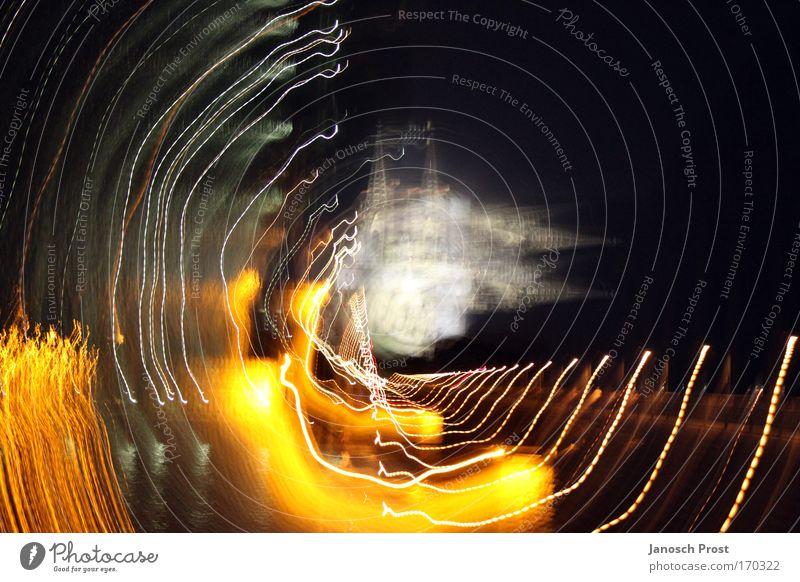 Doppel-Dom?! - 10! weiß schwarz gelb dunkel Bewegung Deutschland gold außergewöhnlich Kirche Europa Turm leuchten drehen Köln Wahrzeichen