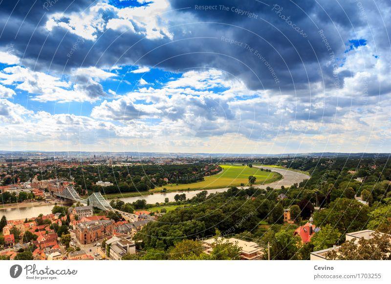 Dresden VII kaufen Ferien & Urlaub & Reisen Tourismus Ausflug Sommerurlaub Natur Landschaft Himmel Wolken Sonne Frühling Baum Park Flussufer Elbe Deutschland