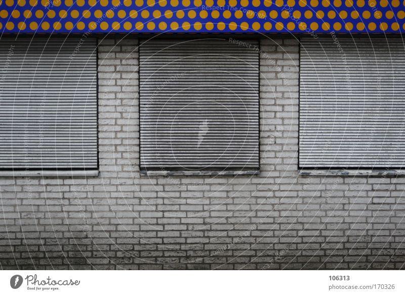 Sanatorium für SchweineAIDS Haus Mauer Wand Fenster Stein Backstein dreckig trist Punkt geschlossen graphisch Symbole & Metaphern Ladengeschäft Gewerbe