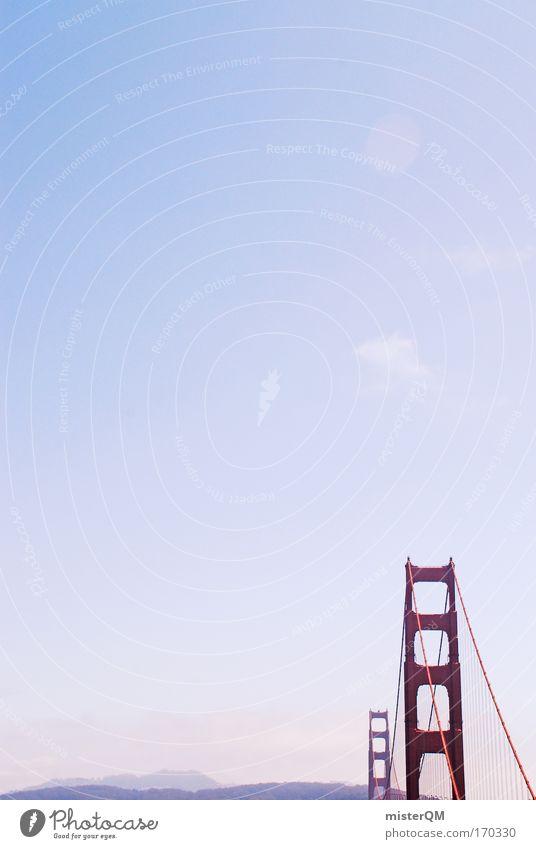 Waldschlößchenbrücke in XXL Farbfoto mehrfarbig Außenaufnahme Luftaufnahme Experiment abstrakt Menschenleer Morgen Morgendämmerung Tag Silhouette Sonnenlicht