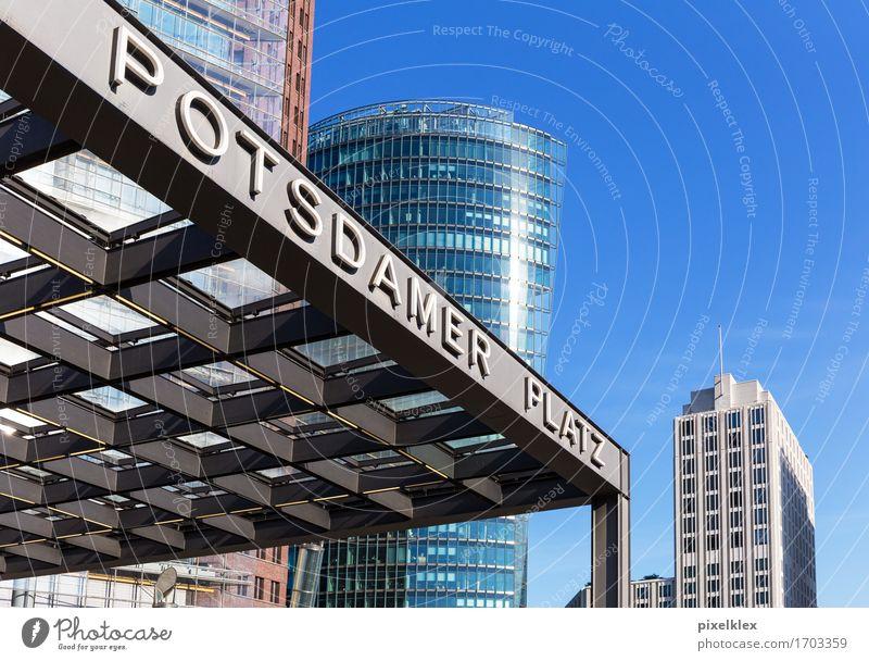 Bahnhof Potsdamer Platz, Berlin Ferien & Urlaub & Reisen Stadt blau Haus Architektur Gebäude Business Deutschland Tourismus modern Hochhaus Glas Erfolg Dach