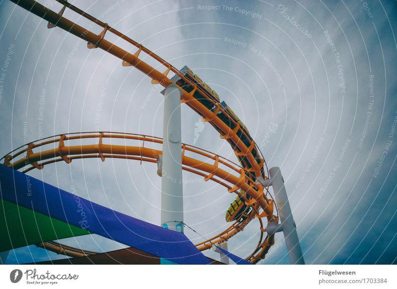Santa Monica Pier 2 Ferien & Urlaub & Reisen Tourismus Ausflug Freiheit Sightseeing Jahrmarkt Bauwerk Schienenfahrzeug Schwebebahn Magnetschwebebahn Jagd Mut