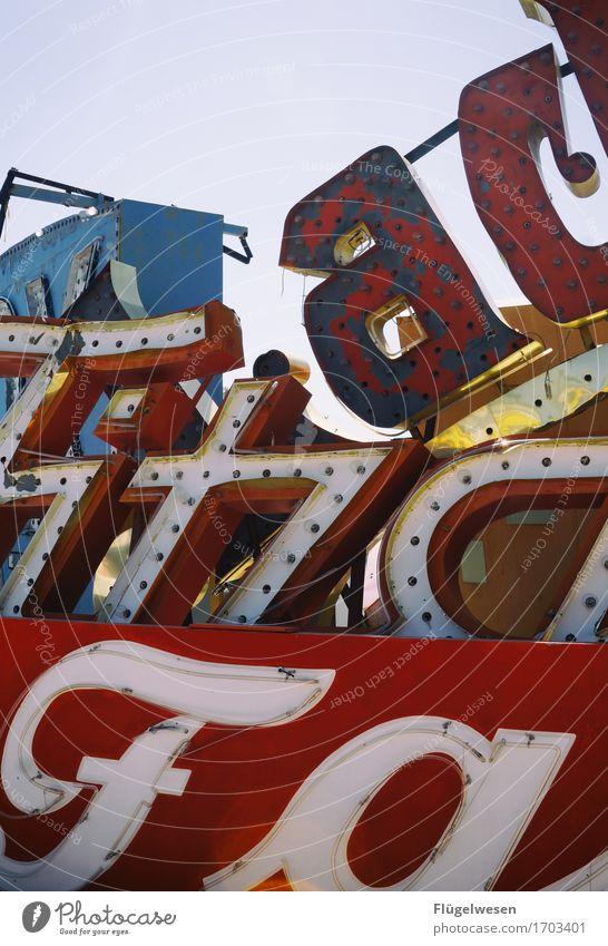FAFITZAAC Lampe Werbebranche Schriftzeichen alt Beleuchtung leuchten Farbe Farbstoff Werbung Neonlicht Leuchtreklame Buchstaben Leuchtbuchstabe Werbeschild