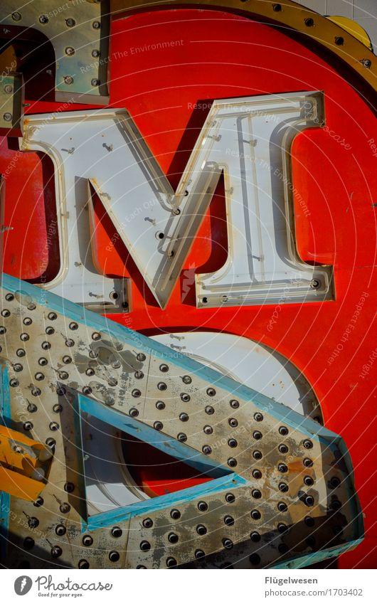 MA Lampe Werbebranche Schriftzeichen alt leuchten Farbe Werbung Beleuchtung Farbstoff Neonlicht Leuchtreklame Buchstaben Leuchtbuchstabe Werbeschild werben