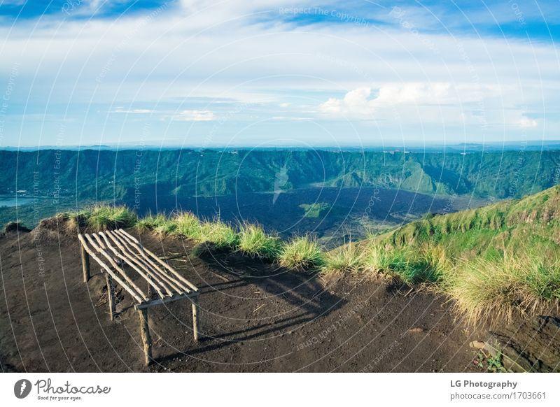 Ein Blick vom Mount Agung Vulkan und Lake Lake schön Ferien & Urlaub & Reisen Tourismus Abenteuer Insel wandern Natur Landschaft Himmel Wolken Urwald Gipfel