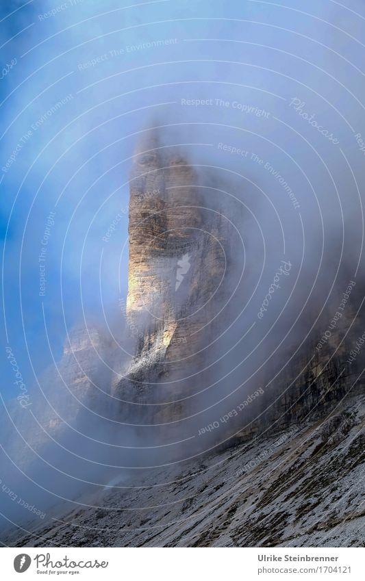 Drei Zinnen 2 Ferien & Urlaub & Reisen Tourismus Ausflug Abenteuer Berge u. Gebirge wandern Umwelt Natur Landschaft Himmel Sommer Schönes Wetter Nebel Felsen