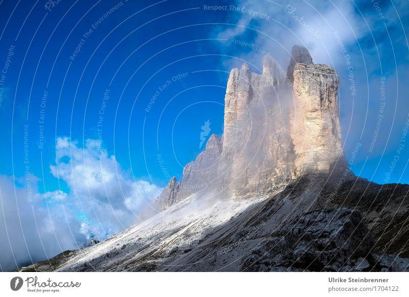 Drei Zinnen Südwand 4 Ferien & Urlaub & Reisen Tourismus Ausflug Freiheit Sommer Sommerurlaub Berge u. Gebirge wandern Natur Landschaft Himmel Wolken