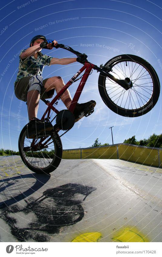 Manfred fährt BMX. Mensch Jugendliche Freude Erwachsene Leben Sport Bewegung Gesundheit Fahrrad maskulin Fröhlichkeit Lifestyle Coolness 18-30 Jahre Fitness