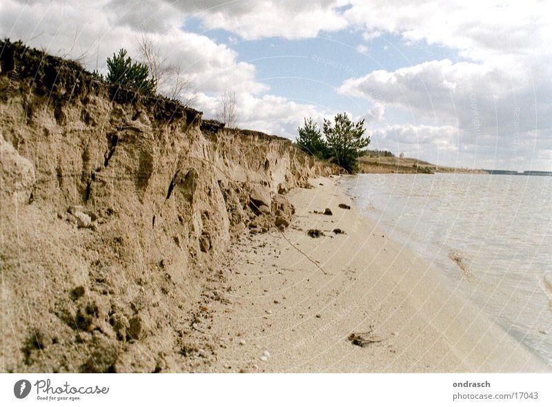Steilküste Wasser Himmel Meer Strand oben See Sand Küste Täuschung Berghang steil