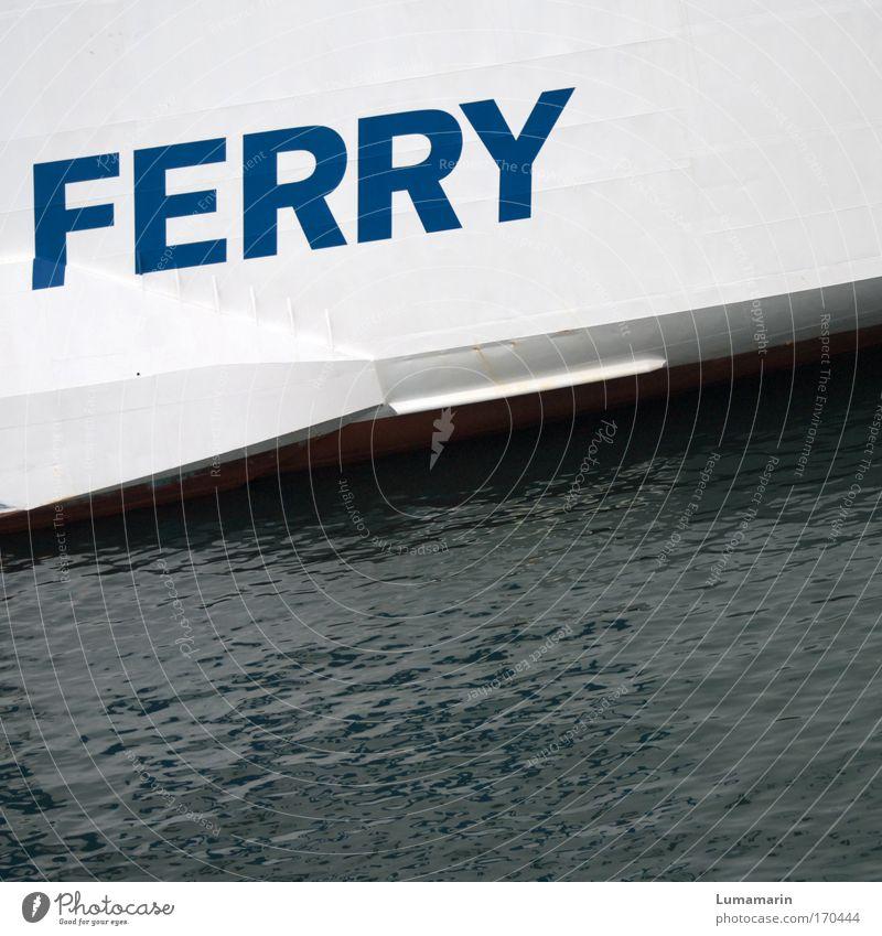Sieben Meere (I) Wasser blau weiß Sommer Ferien & Urlaub & Reisen grau Metall Verkehr Tourismus Schriftzeichen Ziel Unendlichkeit Verkehrswege Schifffahrt