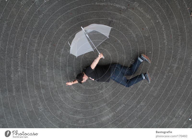 freefall lustig fliegen Freizeit & Hobby fallen Regenschirm Schirm Sturzflug