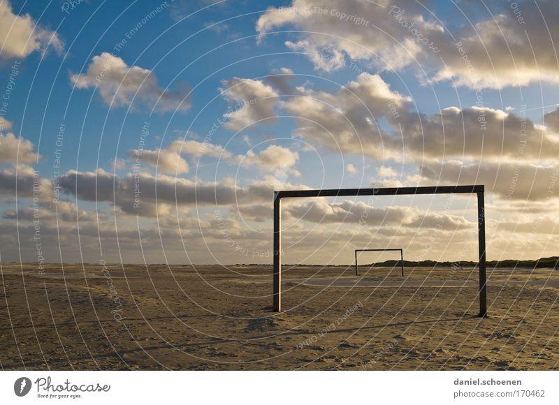 SC Amrum Himmel Meer Sommer Strand Ferien & Urlaub & Reisen ruhig Wolken Erholung Sand Wind Horizont Insel Klima Schönes Wetter Fußballplatz