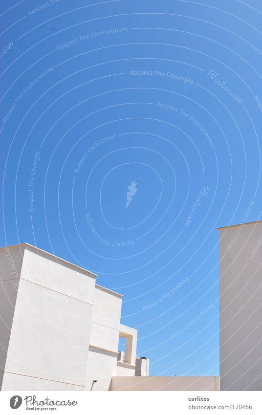 casa blanca II Himmel weiß blau Haus kalt hell Architektur Design elegant Erfolg modern ästhetisch Coolness außergewöhnlich Reichtum