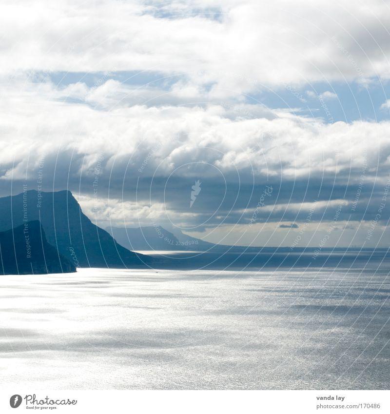 False Bay Wasser schön Himmel Meer Ferien & Urlaub & Reisen ruhig Wolken Ferne Berge u. Gebirge Regen Landschaft Luft Wellen Küste Nebel Wind