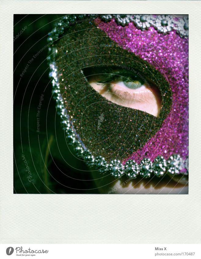 Maske Farbfoto mehrfarbig Innenaufnahme Detailaufnahme Blick in die Kamera Feste & Feiern Halloween 1 Mensch Schauspieler Tanzen Veranstaltung Oper Accessoire
