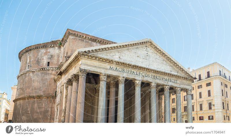 Pantheon in Rom mit blauem Himmel Architektur Tourismus Italien historisch Blauer Himmel Kuppeldach