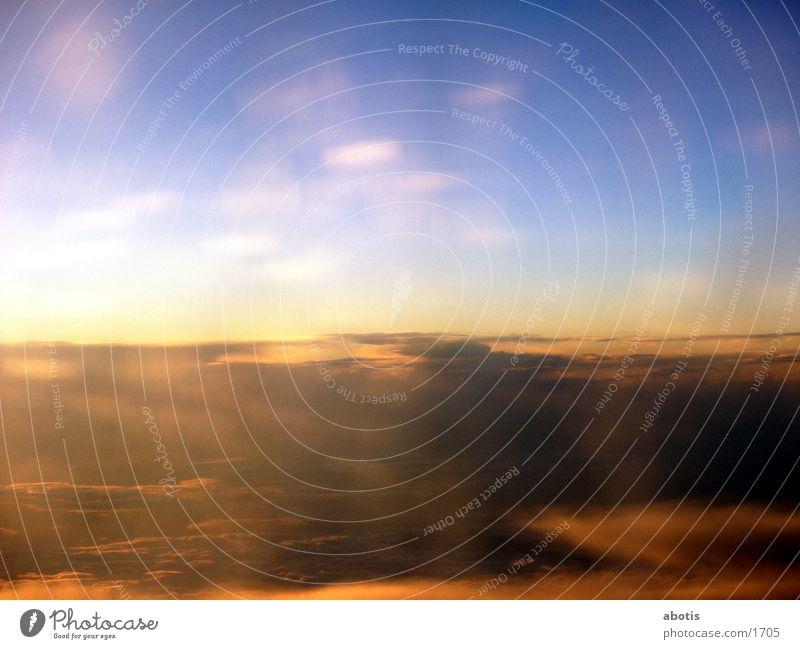 golden sky Wolken Sonne