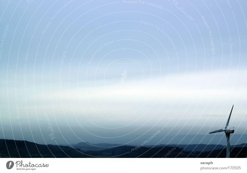 Wind Wolken Umwelt Landschaft Horizont Hintergrundbild modern Technik & Technologie alternativ Vorrat Propeller Stromausfall