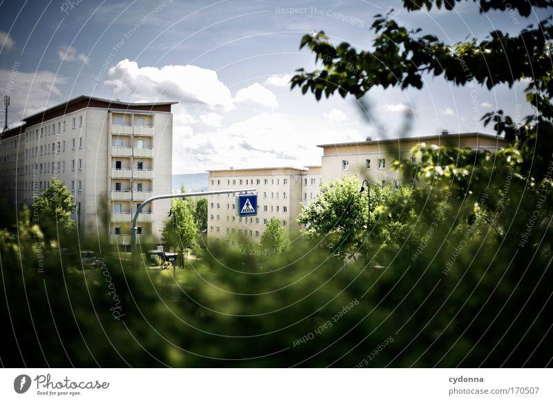 Wohngebiet Natur Himmel Pflanze Einsamkeit Leben Gefühle Freiheit träumen Traurigkeit Landschaft Architektur Wohnung Umwelt Perspektive Zukunft Kommunizieren