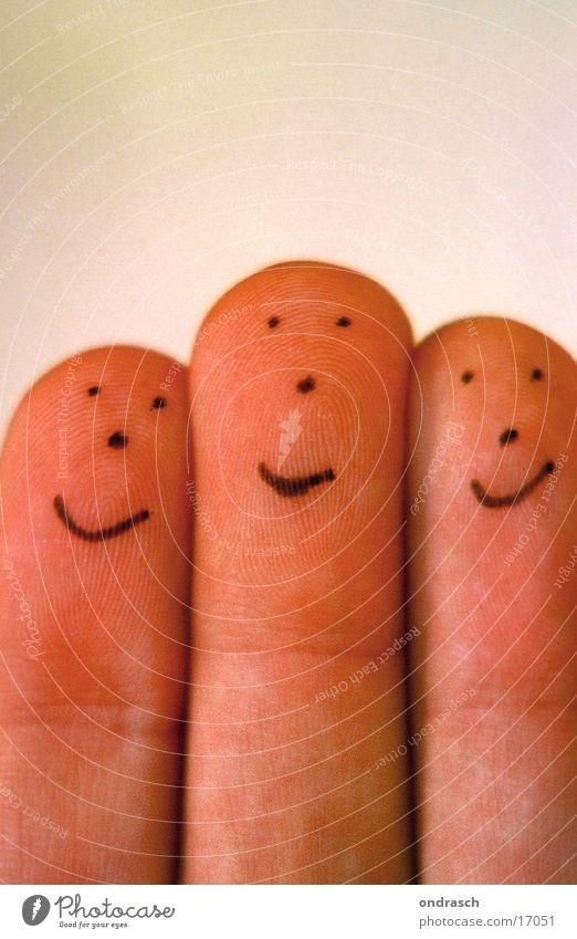 Funny Fingers Mensch Kind Hand Freude Gesicht Auge Spielen lachen Mund lustig Nase Finger Theaterschauspiel