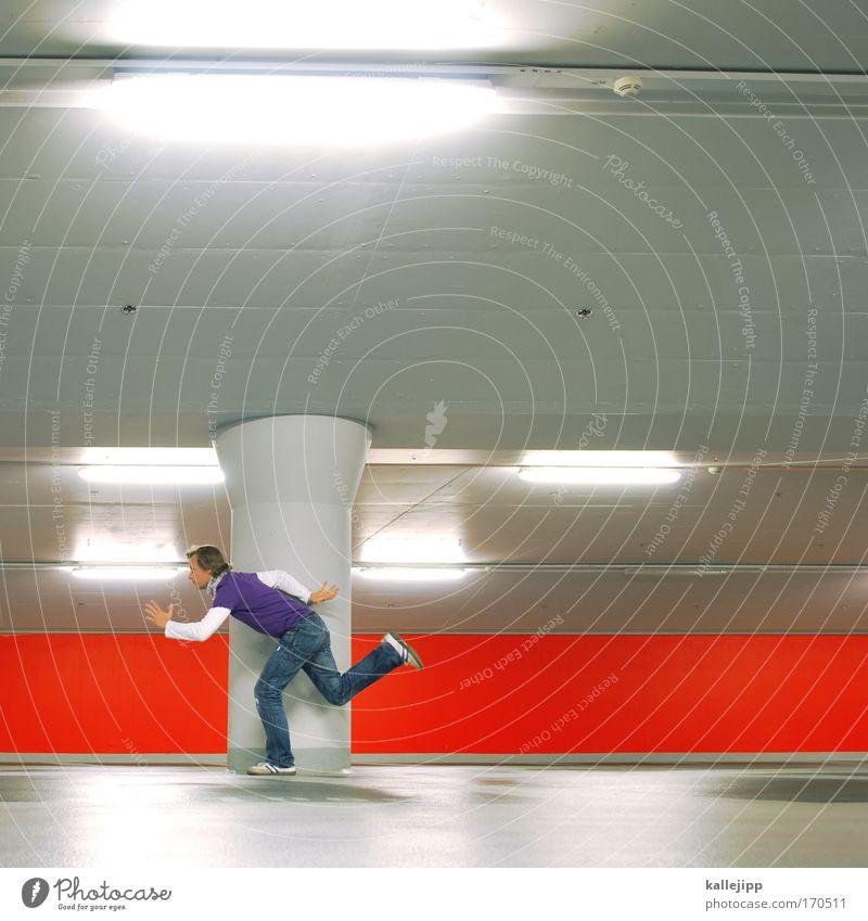 laufbahn Mensch Mann rot Erwachsene Straße Leben Bewegung hell Kraft groß Erfolg Beginn Geschwindigkeit leuchten Lifestyle Coolness