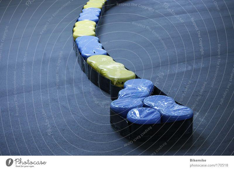 schikan-oes blau schwarz gelb Sport ästhetisch rund einfach Freizeit & Hobby Schutz Rennbahn Vorfreude Motorsport