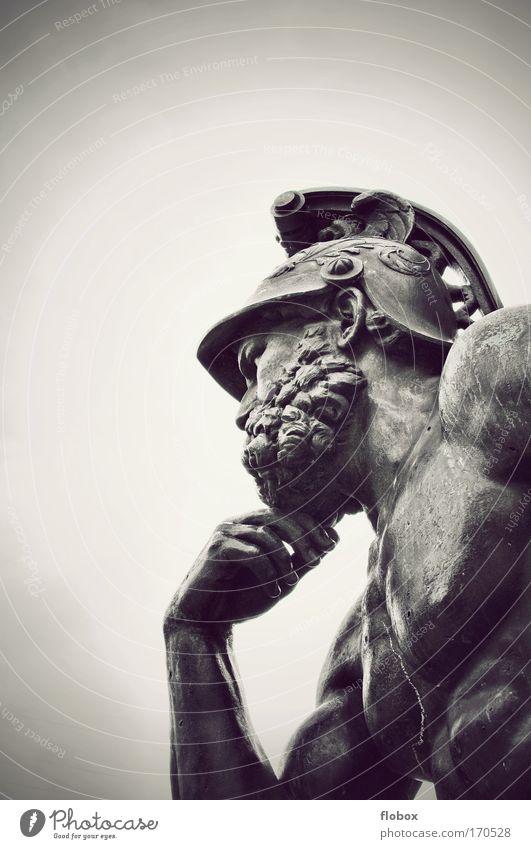 [MUC-09] Nachgedacht Mann alt Einsamkeit Erwachsene Denken Kunst Erfolg ästhetisch bedrohlich nachdenklich Götter Brust Denkmal Statue Krieg Wahrzeichen