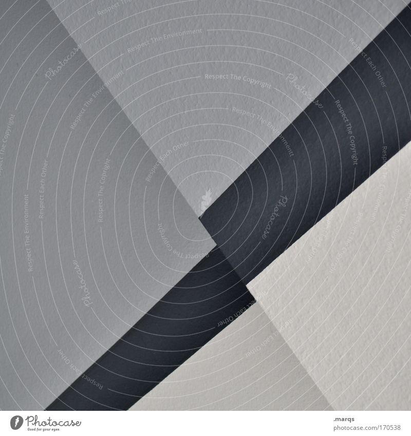 Ascending schwarz Wand Stil grau Mauer Gebäude Linie Architektur Design elegant Erfolg Wachstum einfach Sauberkeit Streifen Dynamik