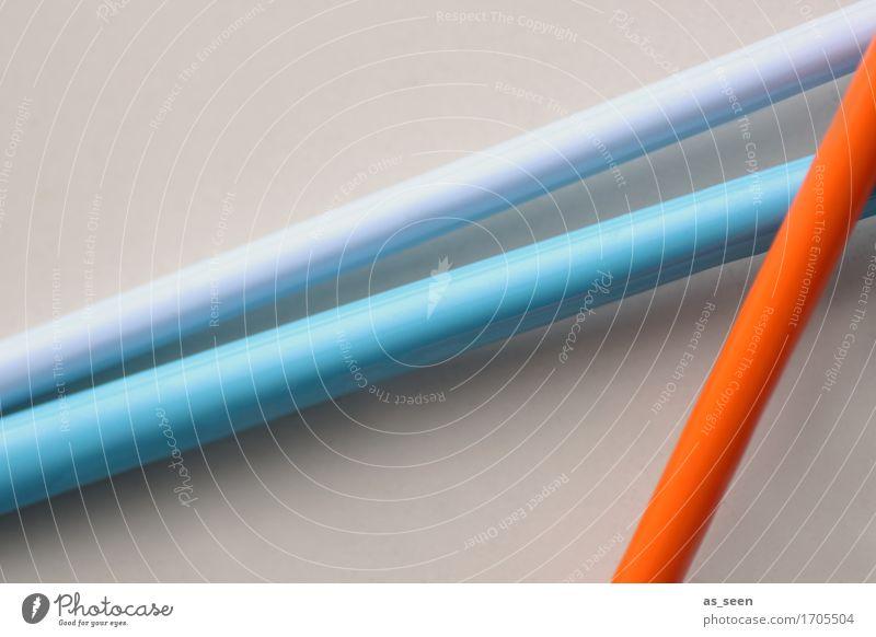 Komposition Stadt blau Farbe Wege & Pfade Bewegung Lifestyle Kunst Linie hell orange Design liegen Dekoration & Verzierung Ordnung modern ästhetisch