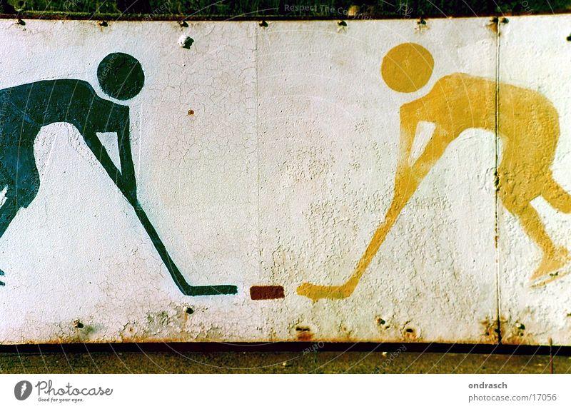 Allsokay Eishockey Spielen Symbole & Metaphern Sportmannschaft Schlittschuhe Zeichen kämpfen Spielfigur Signet Puk