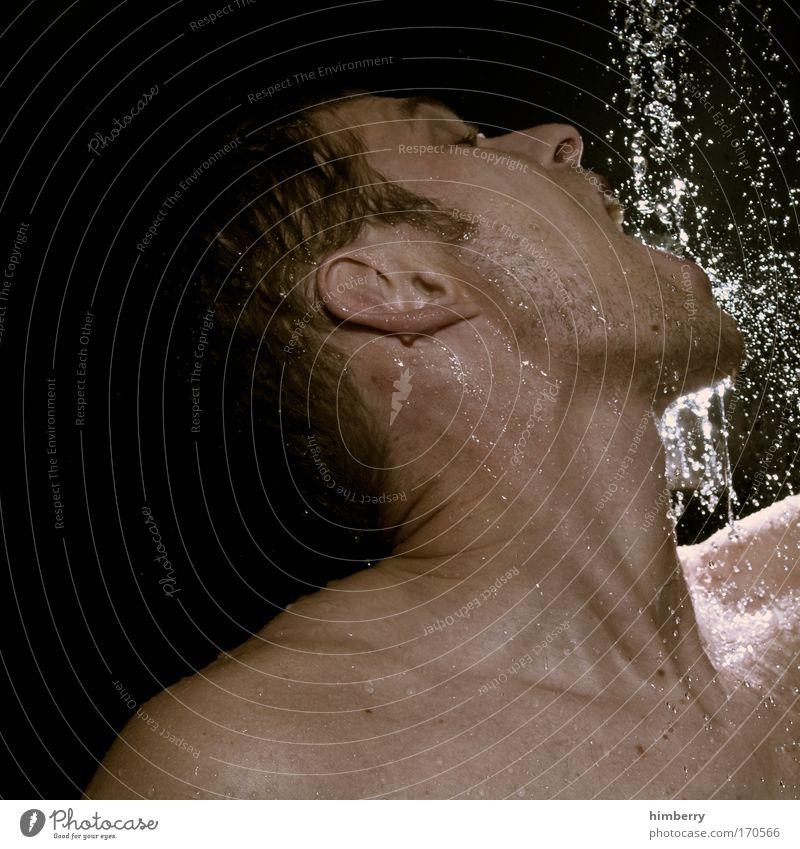 wassermann Mensch Mann Jugendliche schön ruhig Gesicht Erwachsene Erholung Kopf Haare & Frisuren Gesundheit Zufriedenheit Schwimmen & Baden Haut maskulin frisch