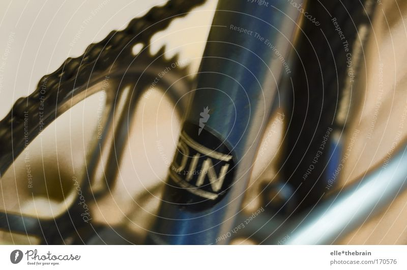 Mein Fahrrad ist blau Freude Stil Metall Freizeit & Hobby Design Sportler Accessoire Medienbranche