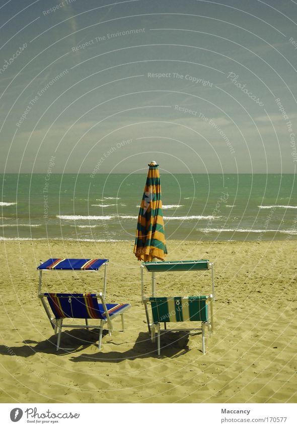 Ne Pause wär jetzt schön! Himmel Wasser Ferien & Urlaub & Reisen Sonne Sommer Meer Strand Ferne Erholung Freiheit Wärme Sand Glück Horizont Zufriedenheit