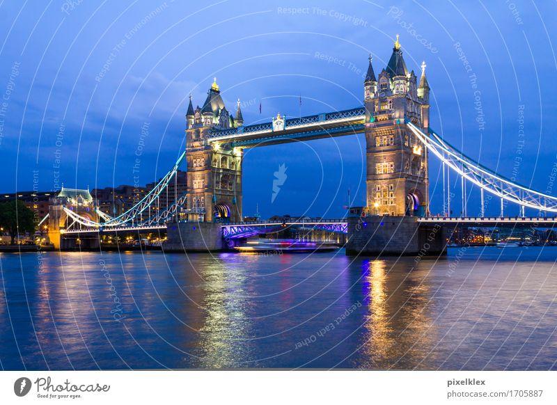 Tower Bridge, London Ferien & Urlaub & Reisen Tourismus Sightseeing Städtereise Nachtleben Wasser Fluss Themse Großbritannien England Stadt Hauptstadt