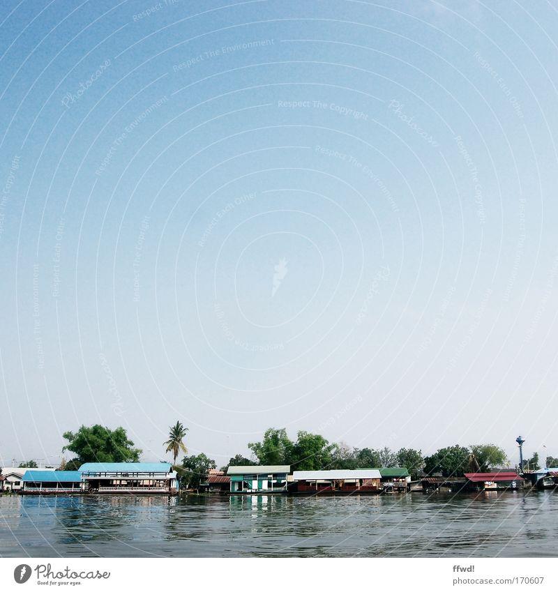 River Kwai Himmel Wasser Ferien & Urlaub & Reisen Haus ruhig Ferne Küste Gebäude Tourismus frisch Ausflug authentisch Idylle Fluss einfach rein