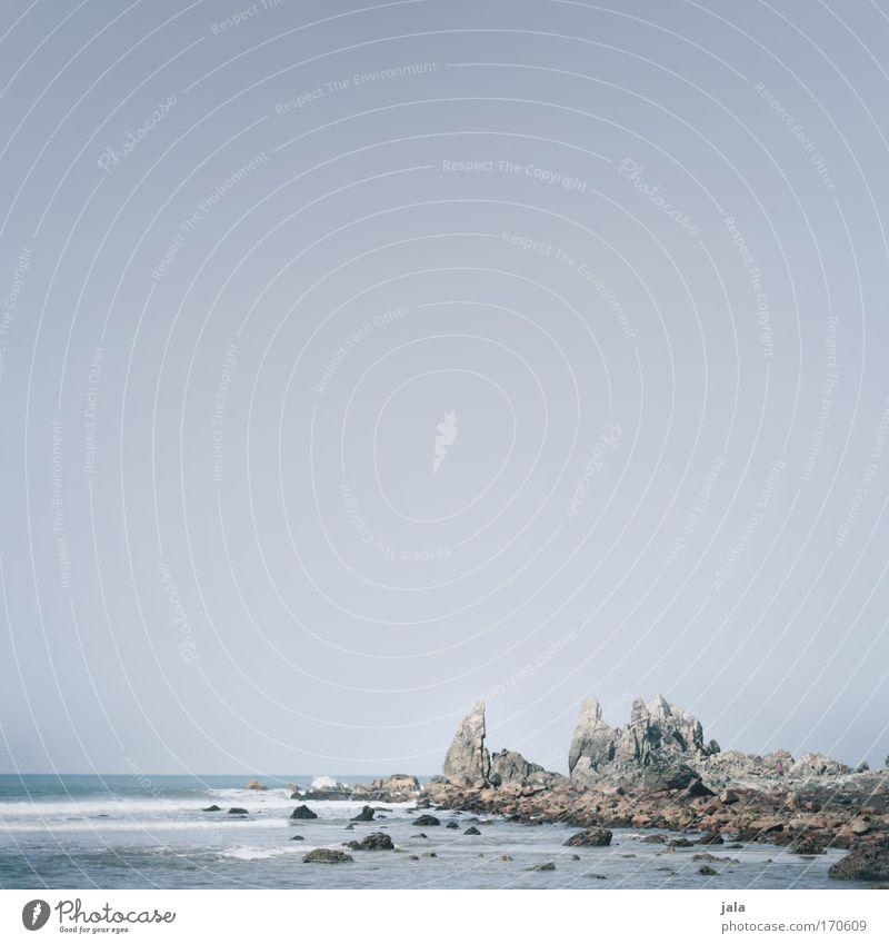 time travel in mind Himmel Meer blau Landschaft Wellen Küste Felsen ästhetisch Indien Brandung Klippe
