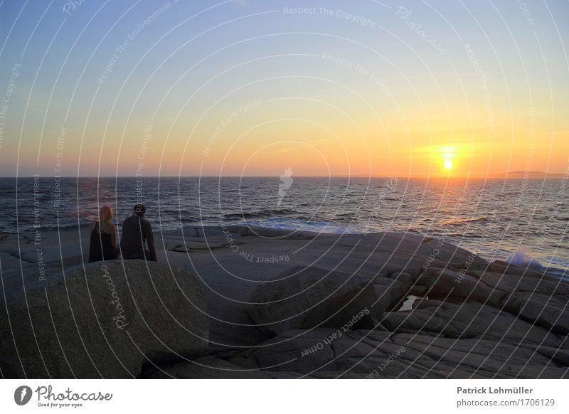 Tagesende auf Peggy´s Cove Mensch Frau Natur Ferien & Urlaub & Reisen Jugendliche Sommer Sonne Meer Landschaft Junger Mann Erholung Ferne 18-30 Jahre Erwachsene