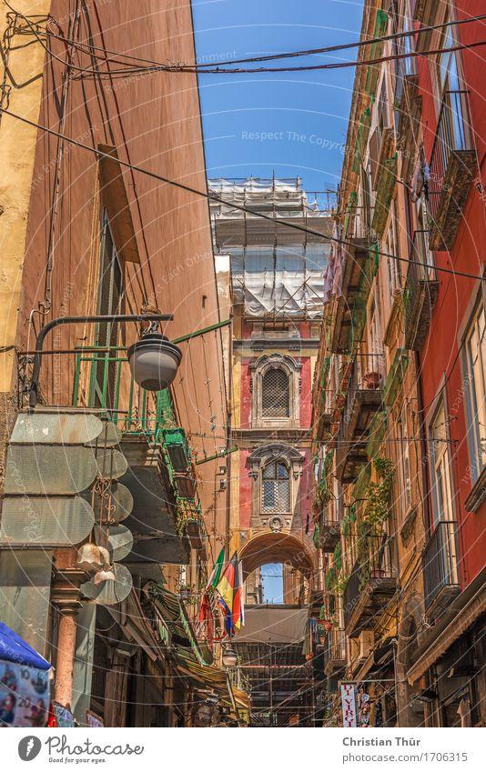 Strassen von Neapel Ferien & Urlaub & Reisen Stadt Sommer Erholung Haus Fenster Architektur Wand Gebäude Mauer Freiheit Fassade Tourismus Tür Ausflug Europa