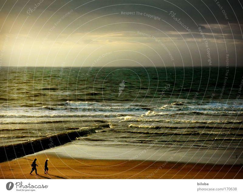 Sommerabend an der Nordsee Mensch Natur Mann Ferien & Urlaub & Reisen Meer Strand Erwachsene Leben Gefühle Freiheit Küste Glück Luft Horizont Wellen Klima