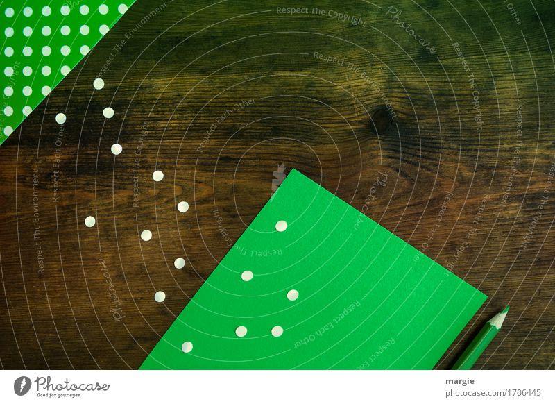 Punkte sammeln grün weiß Büro Beruf Arbeitsplatz Büroarbeit