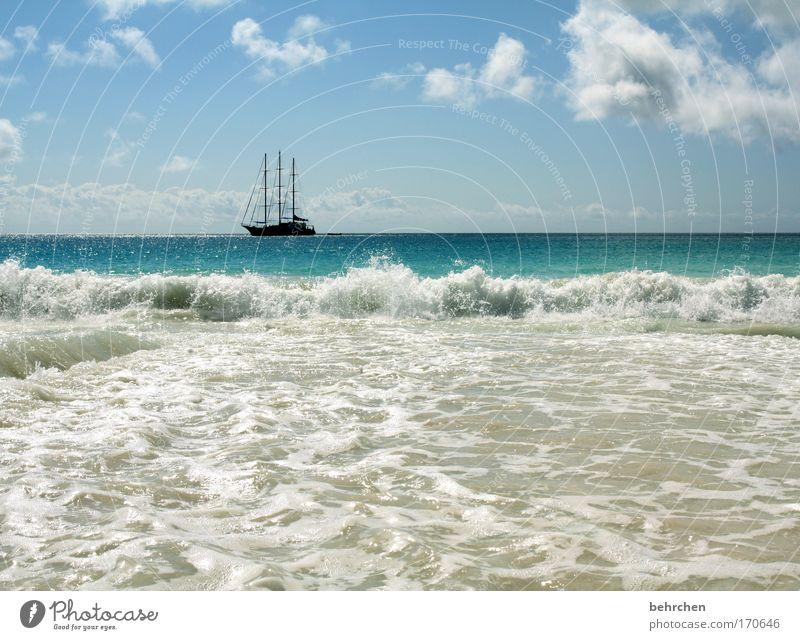 barbossa Himmel Sonne Meer Strand Ferien & Urlaub & Reisen Wolken Ferne Freiheit Glück träumen Wellen Küste Abenteuer Insel Tourismus Segeln