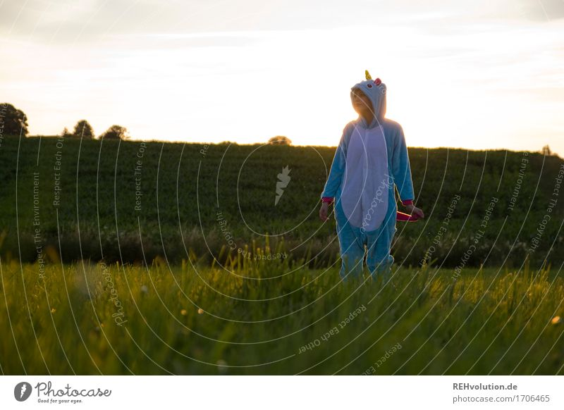 Alexa | Einhorn Stil Freizeit & Hobby Mensch feminin Junge Frau Jugendliche 1 18-30 Jahre Erwachsene Umwelt Natur Landschaft Sommer Schönes Wetter Gras Wiese