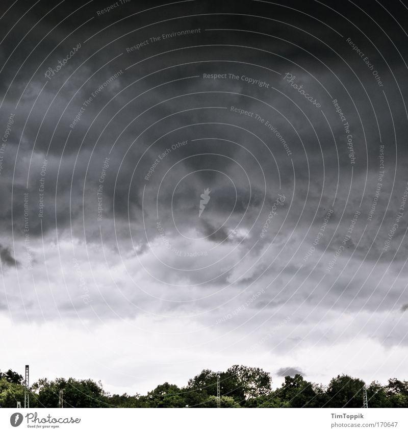 Vor dem Sturm Natur Himmel Wolken Regen Landschaft Eis Umwelt Frost bedrohlich Gewitter Unwetter schlechtes Wetter Gewitterwolken