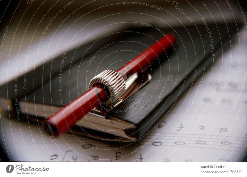 analoges musikschreibprogramm Farbfoto Gedeckte Farben Innenaufnahme Nahaufnahme Experiment Menschenleer Tag Schatten Unschärfe Schwache Tiefenschärfe Fischauge